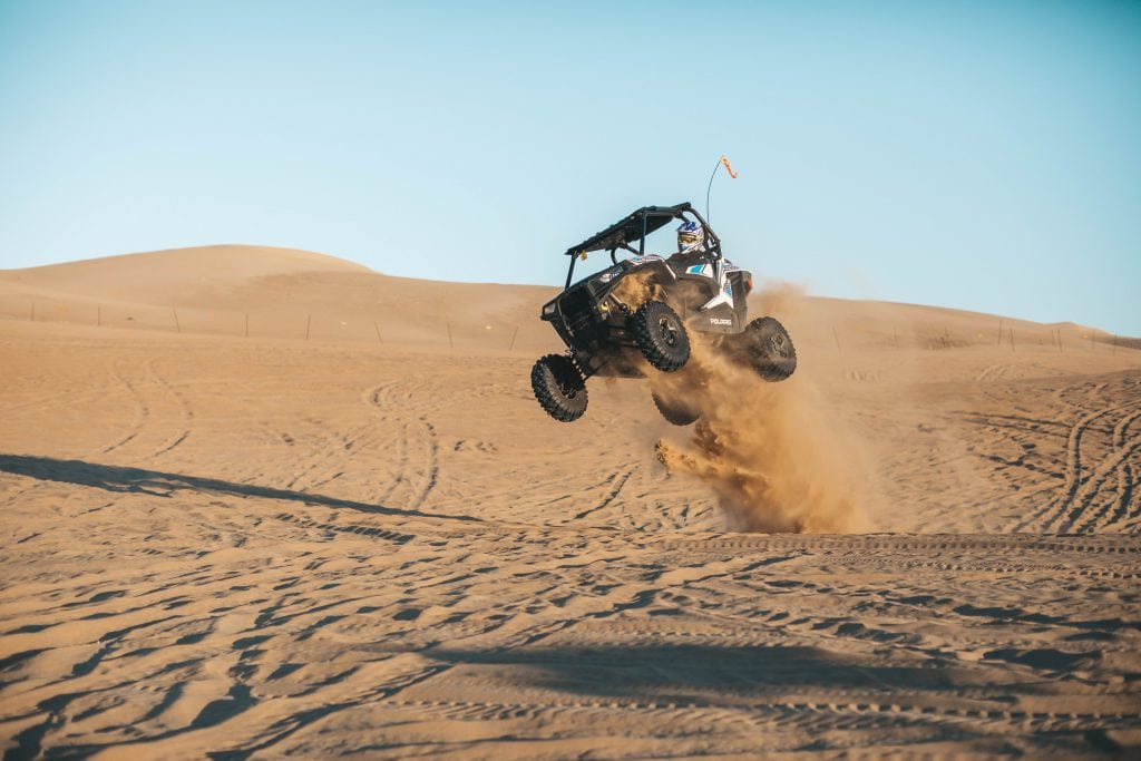 California Sand Dunes Riding ATV Sand Rail Duning Jumping Racing
