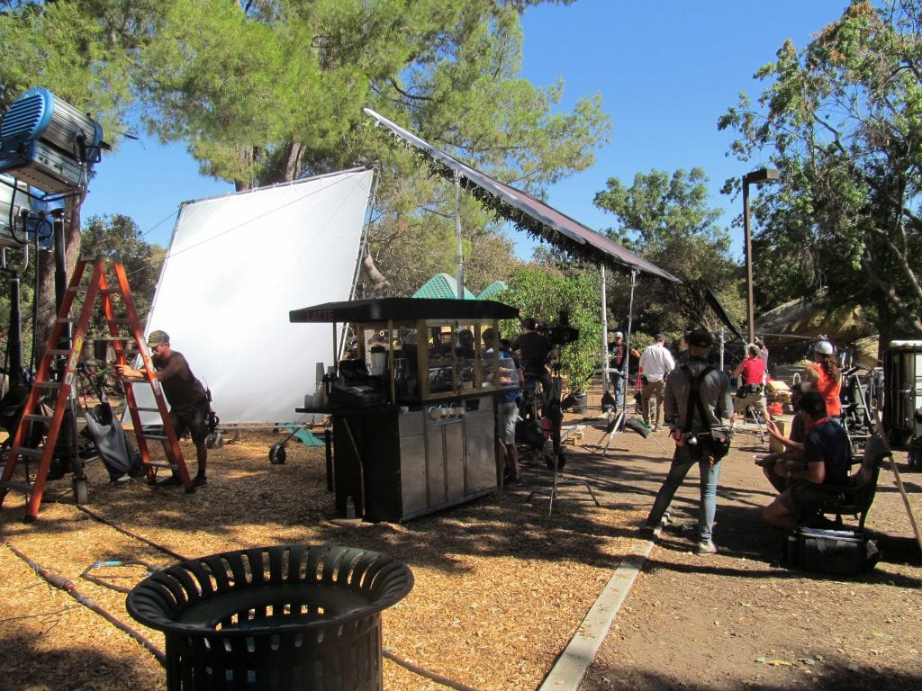 corriganville movie ranch filming on set