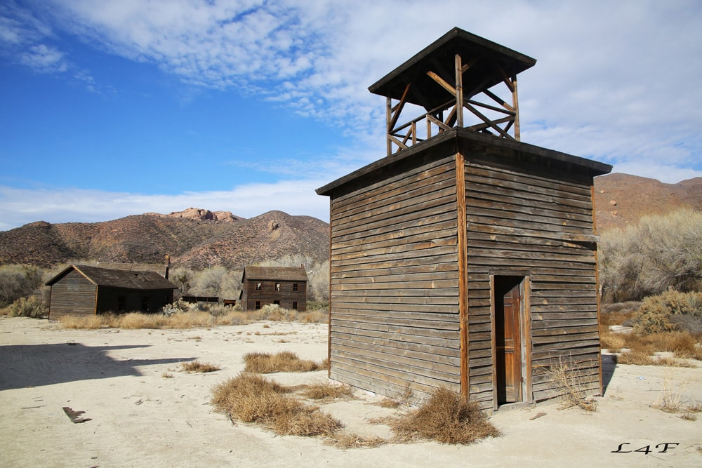 old western structure in polsa rosa ranch