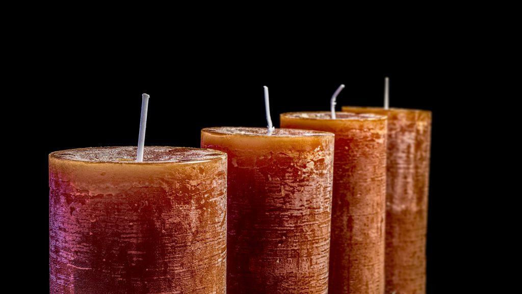 decorative orange candles