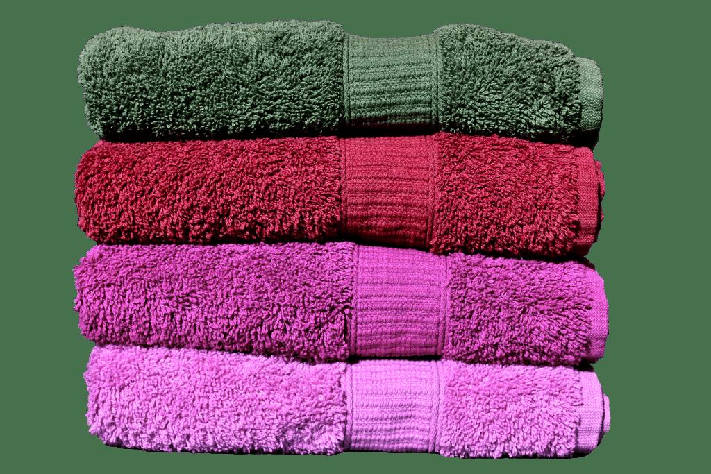 multicolor, four towels