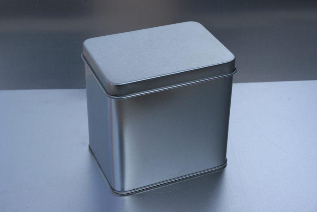 silver tin can caddie