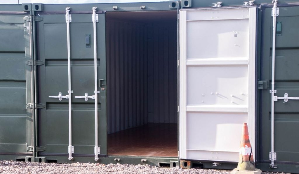 shipping container as storage