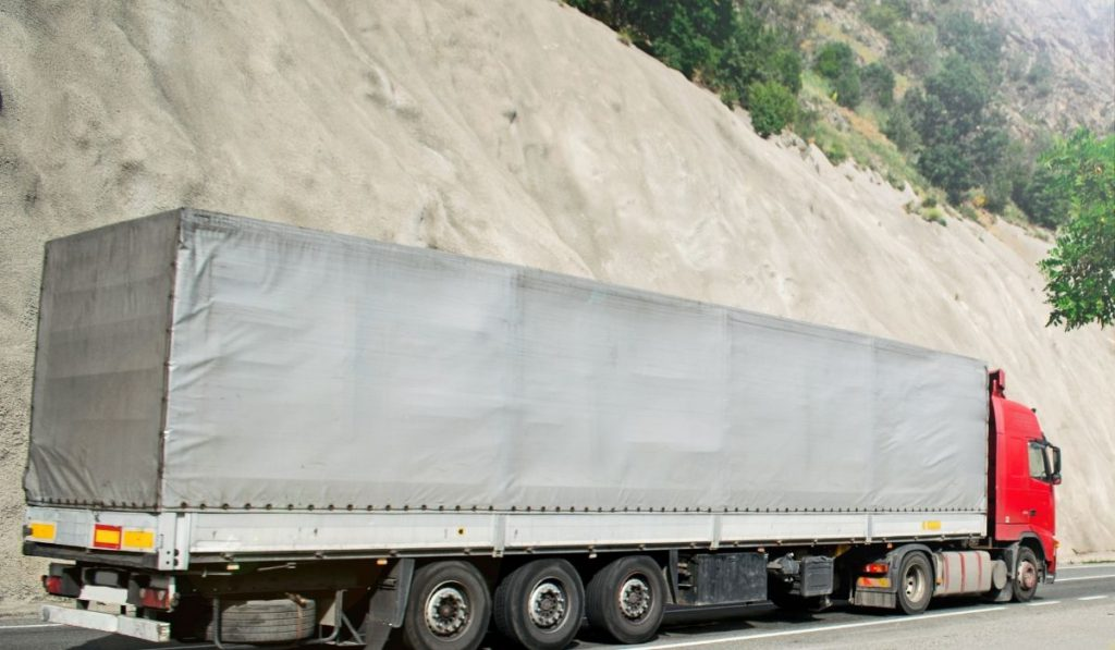 truck with covered containers